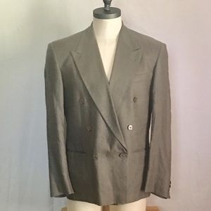 Vintage Alfani Linen Double Breasted Sport Coat